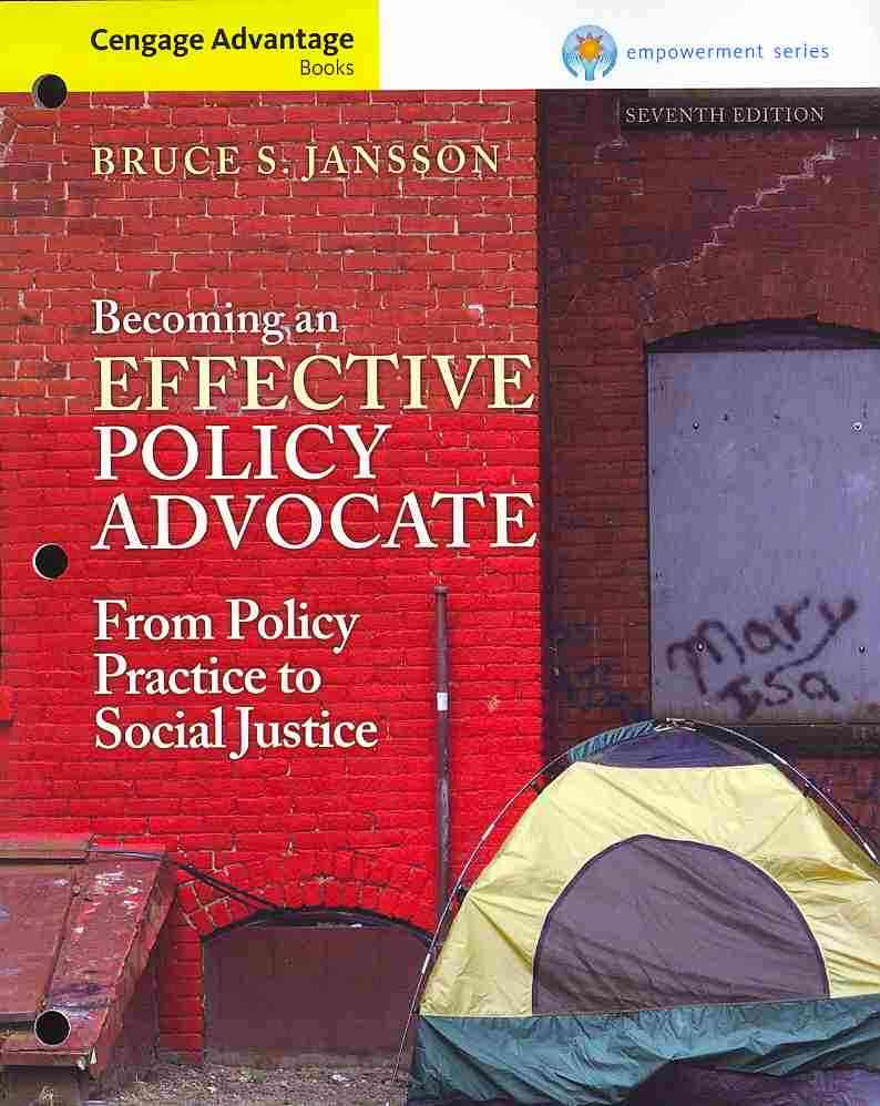 Becoming an Effective Policy Advocate By Jansson, Bruce S.
